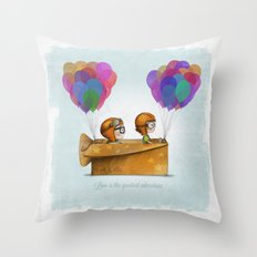 UP Pixar — Love is the greatest adventure  Throw Pillow