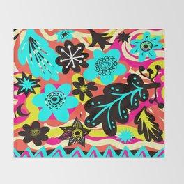 Funky colors Throw Blanket