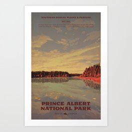 Prince Albert National Park Art Print