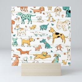 Dogs Dogs Dogs Mini Art Print