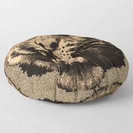 Vintage Tiger Floor Pillow