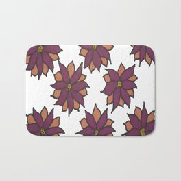 Holiday Two-Toned Flowers Bath Mat