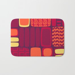 Quilted Flame Bath Mat