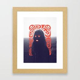 Anna in Fog Framed Art Print