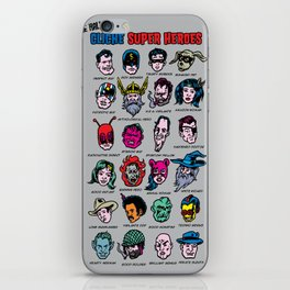 The Hall of Cliché Super Heroes iPhone Skin