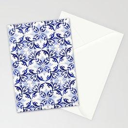 blue tile pattern VI - Azulejos, Portuguese tiles Stationery Cards