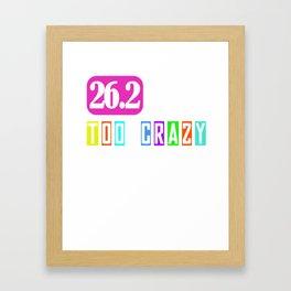 26.2 Marathon Running I Gift Idea for Marathoner Framed Art Print