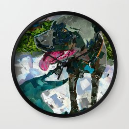 Bolo the Pittie Wall Clock