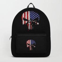 American flag skull Backpack
