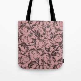 Vintage Swirls Bridal Rose Tote Bag