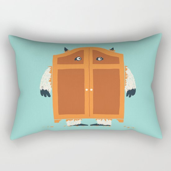 Monster in the closet Rectangular Pillow