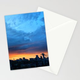 Sunset Over the Aerial Tram Stationery Cards