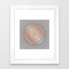 Rose Gold Gray Mandala Framed Art Print