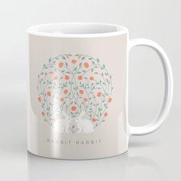Rabbit Rabbit Roses Coffee Mug