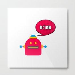 Honk Robot Meme Speech Bubble Metal Print