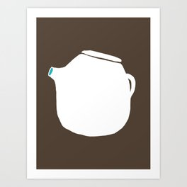 Grey Pot Art Print