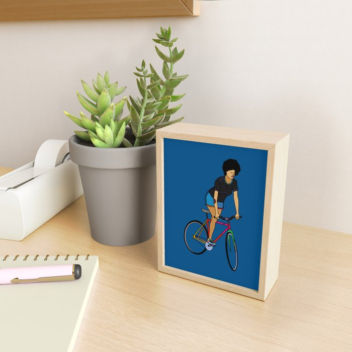 Track Stand Framed Mini Art Print