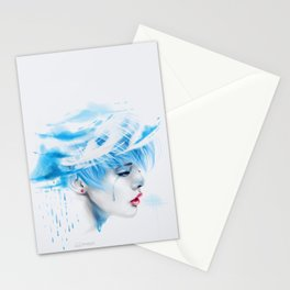 Head Up In The Clouds (blue ver.) Stationery Cards