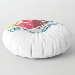 Retro Distressed Wyoming Design for Men Women and Kids Floor Pillow