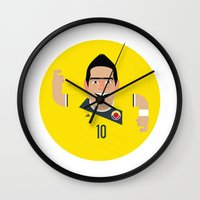colombia Wall Clocks featuring James Rodriguez - Colombia by Gary  Ralphs Illustrations