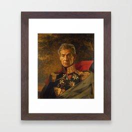 Sir Ian McKellen - replaceface Framed Art Print