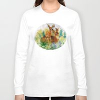 polygon Long Sleeve T-shirts featuring Polygon Deer by Joseph Von Stengel
