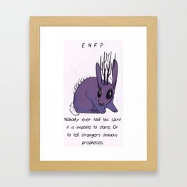 MBTI GHOSTS AND GHOULS - ENFP Framed Art Print