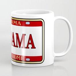 Alabama State Name License Plate Coffee Mug