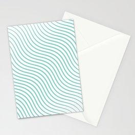 Tirquaz wavy modern lines Stationery Cards