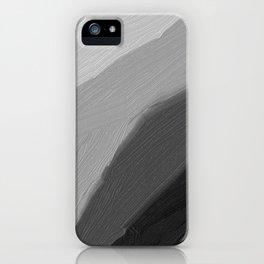 Monochromatic disk Gradient Black iPhone Case