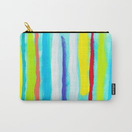 Ocean Blue Summer blue abstract painting stripes pattern beach tropical holiday california hawaii Carry-All Pouch