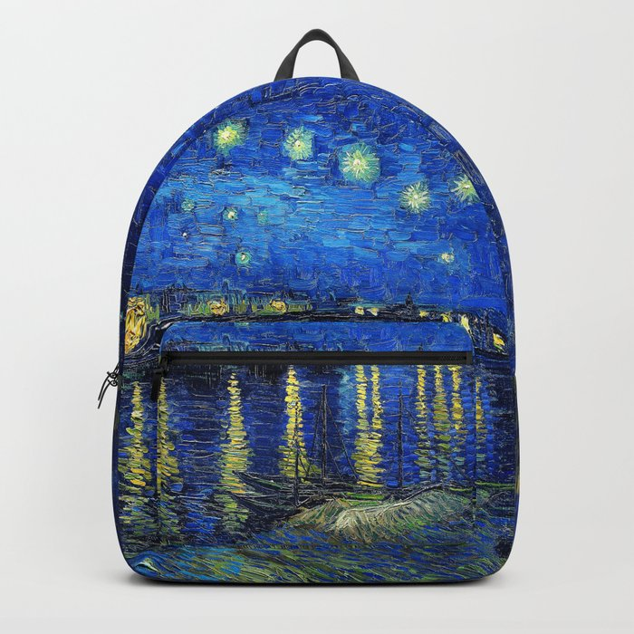 Starry Night Over the Rhone by Vincent van Gogh Backpack