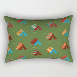 Boho Camping Tents Rectangular Pillow