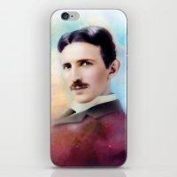 tesla iPhone & iPod Skins featuring Tesla by Mamboo