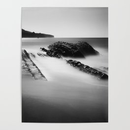 Uncovered Bowling Ball Beach Mendocino coast Poster