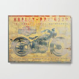 HD - Vintage Motorcycle Metal Print