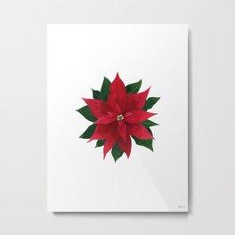 Christmas flower - Poinsettia Metal Print
