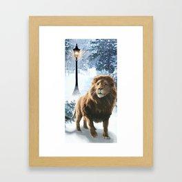 Aslan and the Lamppost Framed Art Print