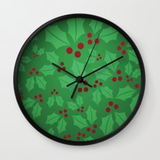 Holly Jolly Christmas Wall Clock