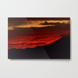 Red Hot Desert Sky Metal Print