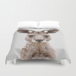 Kangaroo 2 - Colorful Duvet Cover