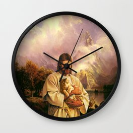 The Cat of Christ Wall Clock