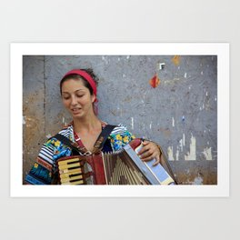 Gipsy woman, street photography, print, colorful, urban, photography, wall art, decor Art Print