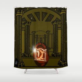 Necropolis Coin Copper at Twilight 5 Shower Curtain