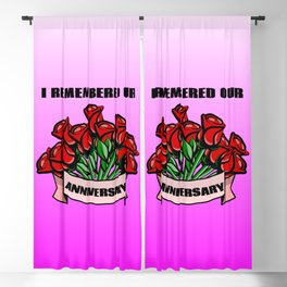 I remembered our wedding anniversary Blackout Curtain