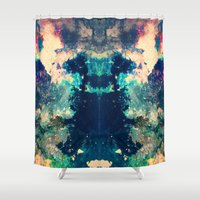 psych Shower Curtains featuring Hidden Shelter by Work the Angle