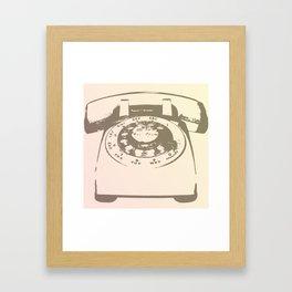 """""""Bonjour"""" Rotary Phone Framed Art Print"""