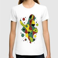 cello T-shirts featuring Abstract #226 The Cellist #2 by Ron (Rockett) Trickett