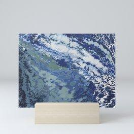 Deep Blue Ocean Wake Mini Art Print