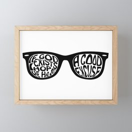 If God Exixts Framed Mini Art Print